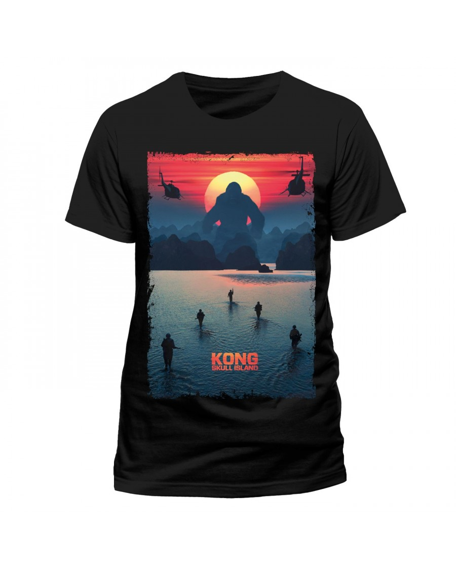 OFFICIAL KONG: SKULL ISLAND MOVIE POSTER BLACK T-SHIRT