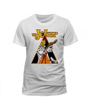 OFFICIAL DC COMICS THE JOKER & HARLEY QUINN CLOCKWORK ART WHITE T-SHIRT