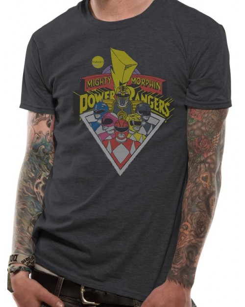 OFFICIAL MIGHTY MORPHIN POWER RANGERS GROUP T-SHIRT