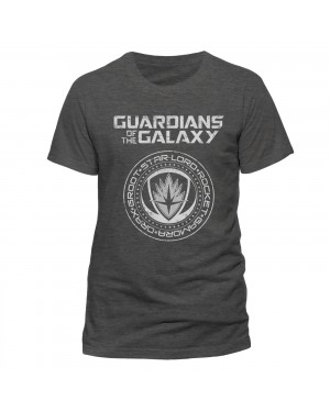 OFFICIAL GUARDIANS OF THE GALAXY - CREST SYMBOL GREY T-SHIRT