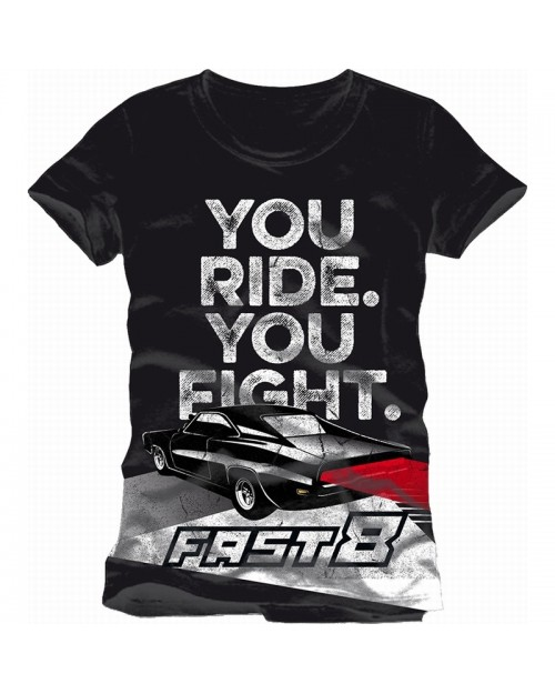 OFFICIAL FAST & FURIOUS - THE FATE OF THE FURIOUS 'YOU RIDE. YOU FIGHT. BLACK T-SHIRT