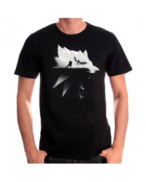 OFFICIAL WITCHER 3: WILD HUNT WOLF SILHOUETTE BLACK T-SHIRT