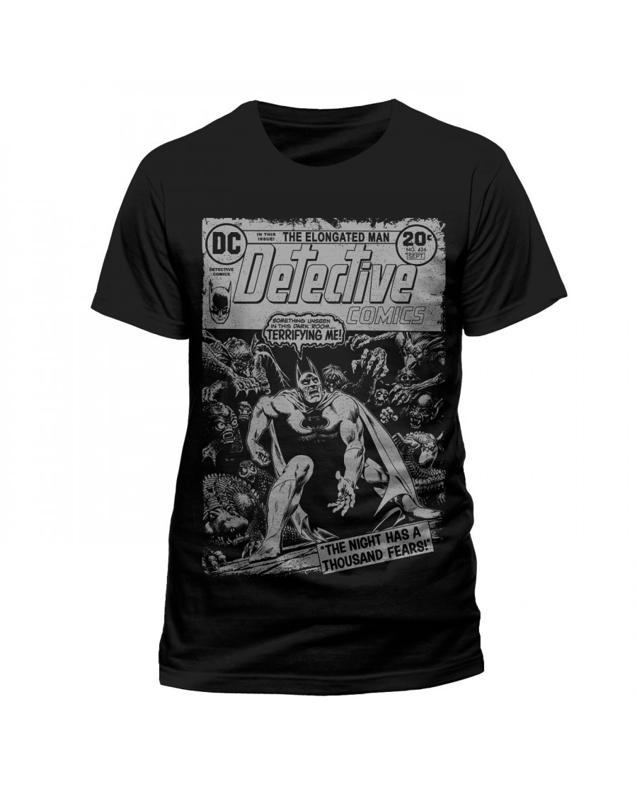 OFFICIAL DC COMICS BATMAN - A THOUSAND FEARS COMIC COVER BLACK T-SHIRT