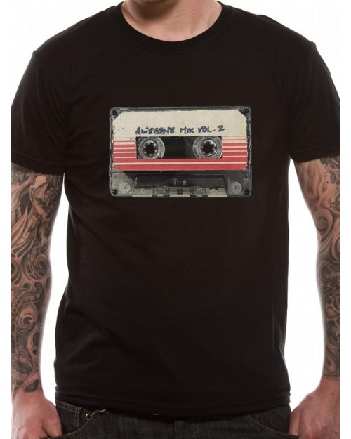 OFFICIAL GUARDIANS OF THE GALAXY - AWESOME MIX VOL. 2 BLACK T-SHIRT