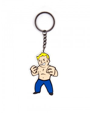 FALLOUT 4 - VAULT BOY STRENGHT SKILL RUBBER KEYRING