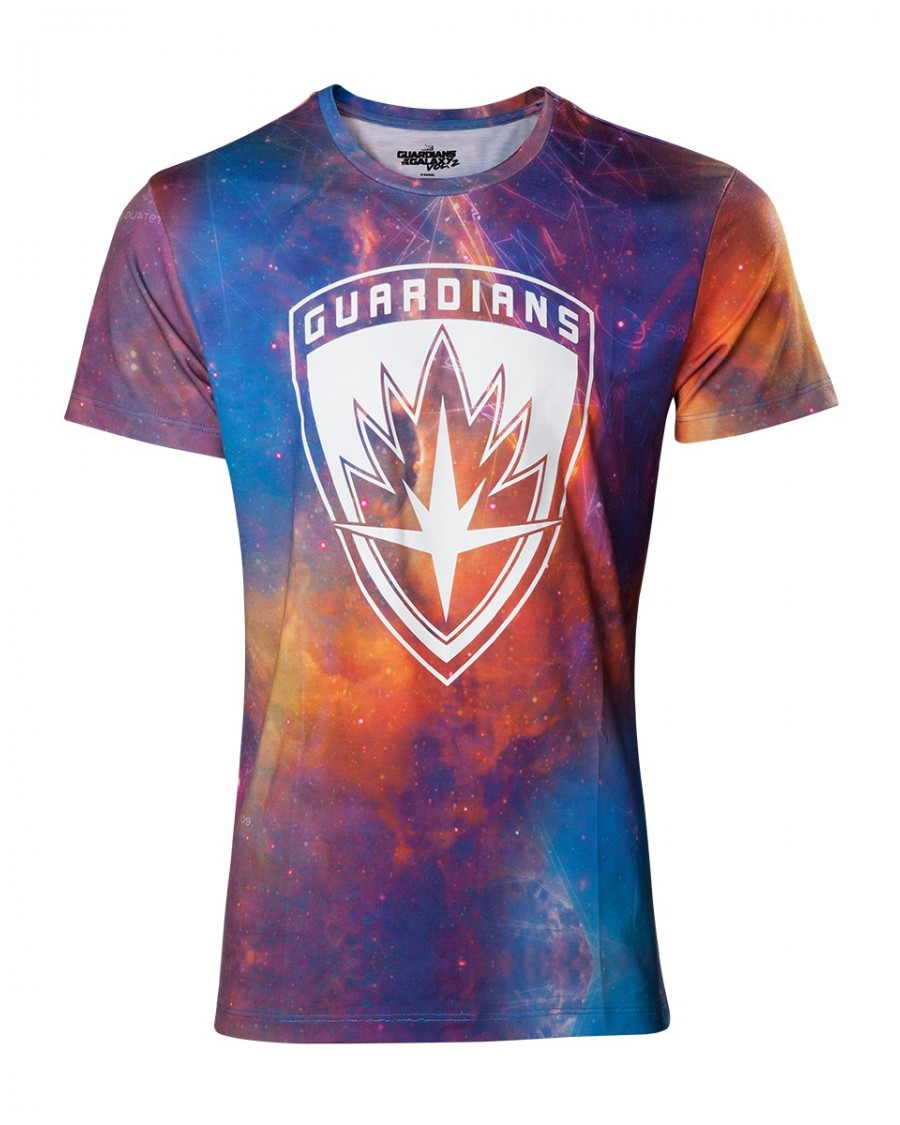 OFFICIAL GUARDIANS OF THE GALAXY VOL. 2 - ALL OVER GALAXY CREST T-SHIRT