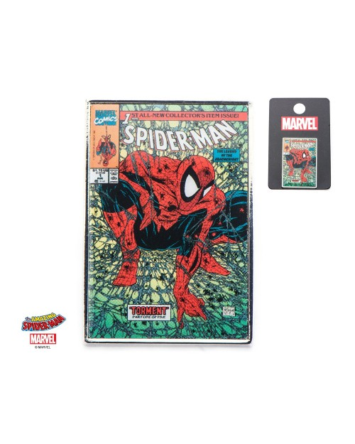 OFFICIAL MARVEL COMICS - THE AMAZING SPIDER-MAN COMIC BOOK COVER METAL PIN BADGE