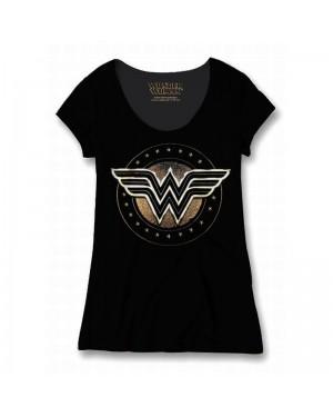 OFFICIAL DC COMICS - WONDER WOMAN (THE MOVIE) SYMBOL BLACK T-SHIRT