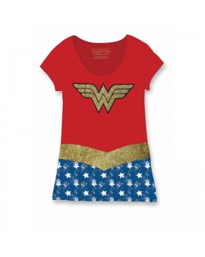 OFFICIAL DC COMICS - WONDER WOMAN COSTUME STYLED T-SHIRT