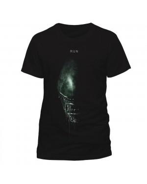 OFFICIAL ALIEN COVENANT - RUN ALIEN PRINTED BLACK T-SHIRT
