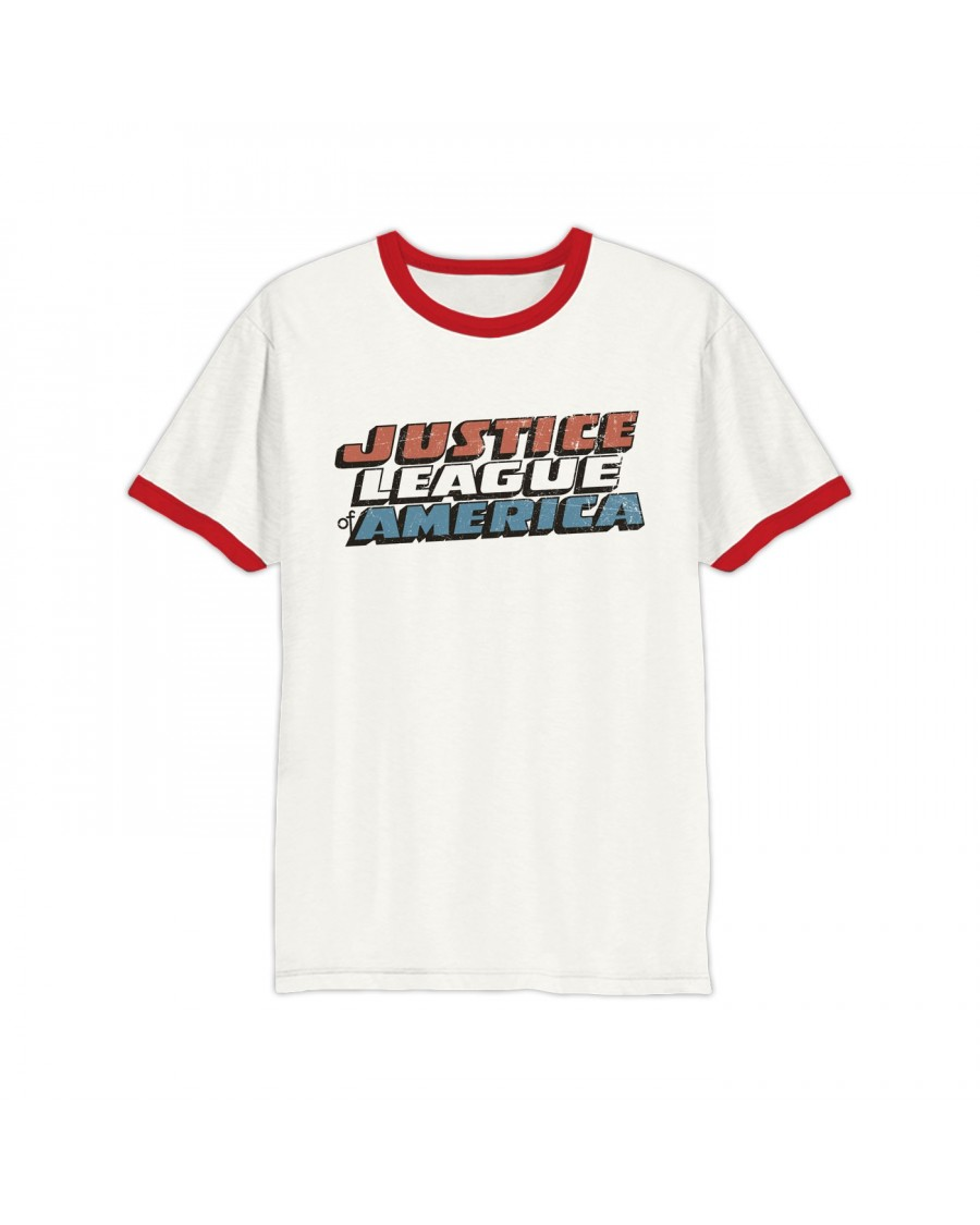 OFFICIAL JUSTICE LEAGUE OF AMERICA VINTAGE SYMBOL RINGER T-SHIRT