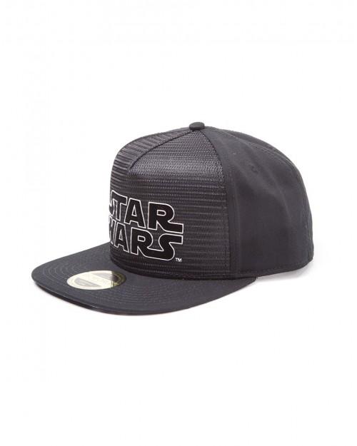 OFFICIAL STAR WARS METAL SYMBOL BLACK  SNAPBACK CAP WITH PRINTED VISOR