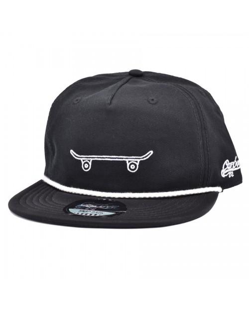 CARBON 212 SKATEBOARD SLOUCH SNAPBACK CAP
