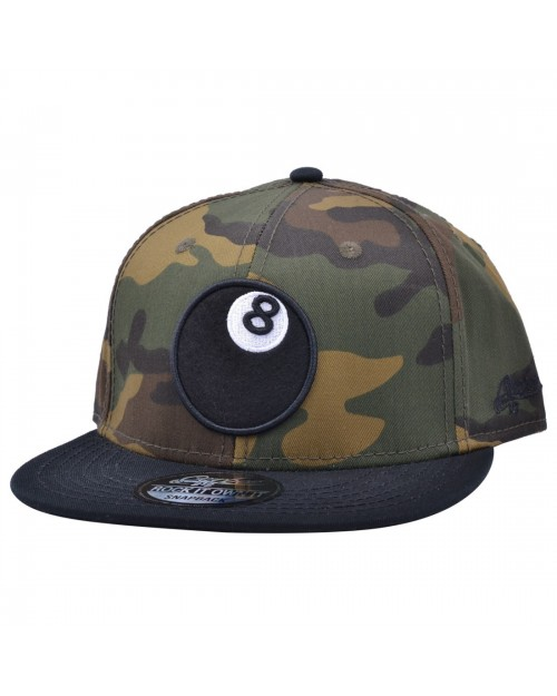 CARBON 212 8 BALL CAMOUFLAGE SNAPBACK CAP