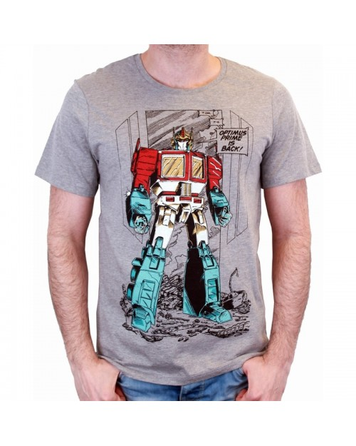 OFFICIAL TRANSFORMERS - OPTIMUS PRIME IS BACK GREY T-SHIRT