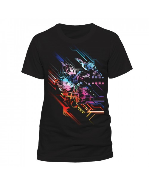 OFFICIAL VALERIAN - NEON POSTER BLACK T-SHIRT