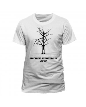 OFFICIAL BLADE RUNNER 2049 - TREE/ OFFICER K SILHOUETTE WHITE T-SHIRT