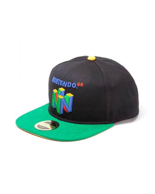 OFFICIAL NINTENDO - NINTENDO64 SYMBOL BLACK SNAPBACK CAP