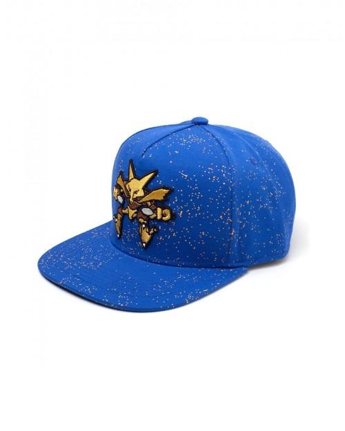 OFFICIAL NINTENDO'S - POKEMON ALAKAZAM PSYCHEDELIC DOTS BLUE SNAPBACK CAP