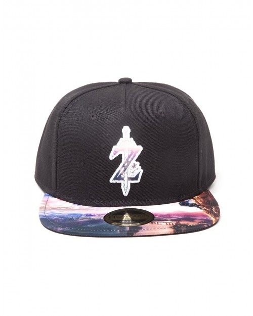 OFFICIAL THE LEGEND OF ZELDA: BREATH OF THE WILD 'Z' BLACK SNAPBACK CAP WITH PRINTED VISOR