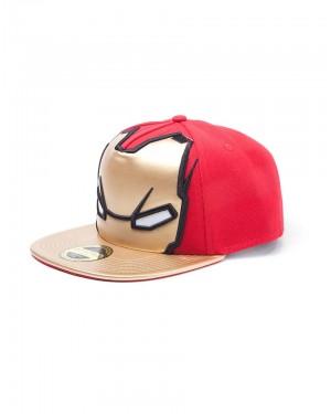 OFFICIAL MARVEL COMICS - IRON MAN MASK (FOIL PRINT) RED SNAPBACK CAP