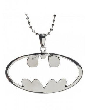 OFFICIAL DC COMICS BATMAN CUT OUT SYMBOL PENDANT ON BALL CHAIN NECKLACE