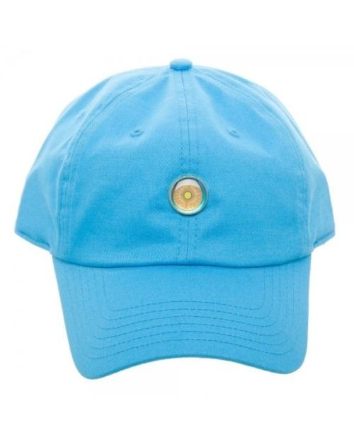 OFFICIAL NINTENDO - THE LEGEND OF ZELDA: BREATH OF THE WILD SHIELD PIN BLUE BASEBALL 'DAD' CAP