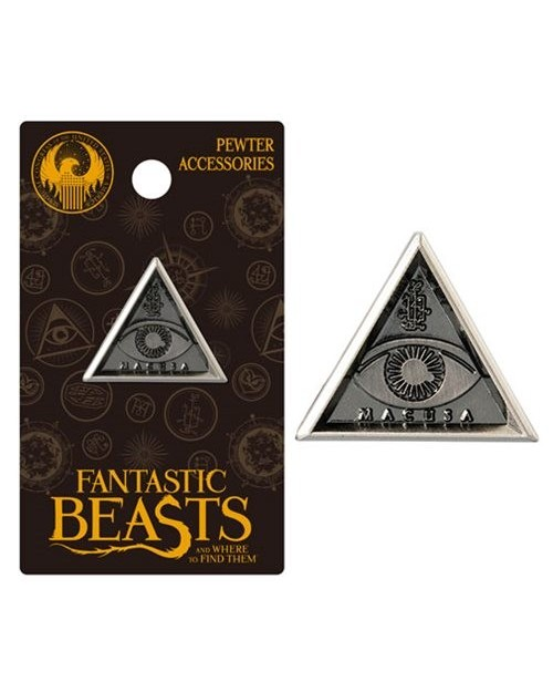 OFFICIAL FANTASTIC BEASTS AND WHERE TO FIND THEM - MACUSA TRIANGLE GREY LAPEL BADGE