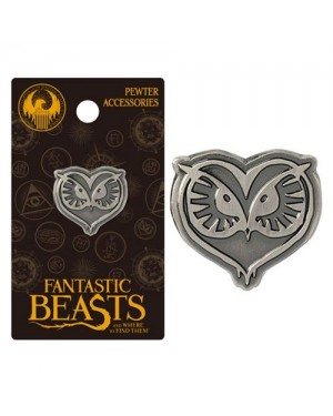 OFFICIAL FANTASTIC BEASTS AND WHERE TO FIND THEM - OWL GREY LAPEL BADGE