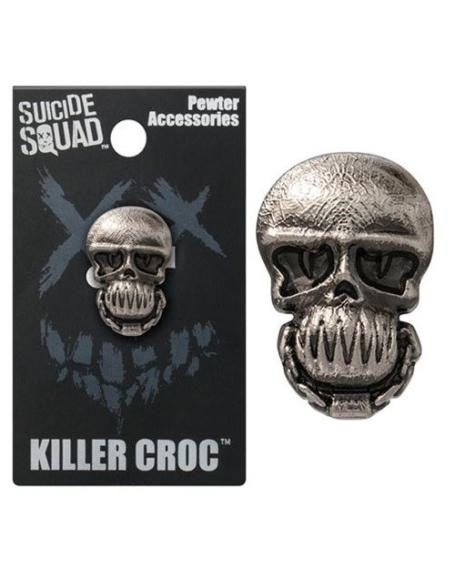 OFFICIAL DC COMICS - SUICIDE SQUAD KILLER CROC GREY LAPEL BADGE