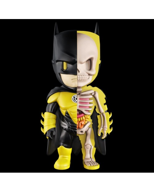 XXRAY x DC COMICS - BATMAN YELLOW LANTERN DISSECTED VINYL ART FIGURE (10cm)