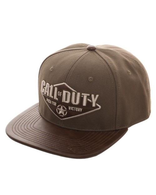 OFFICIAL CALL OF DUTY: WWII (2) PUSH FOR VICTORY GREEN/ KHAKI SNAPBACK CAP