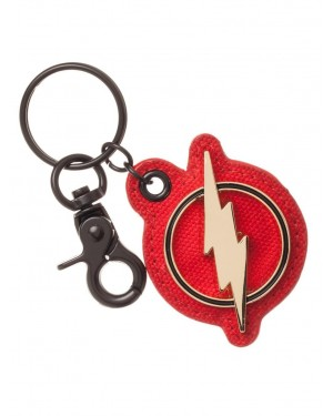 OFFICIAL DC COMIC THE FLASH SYMBOL METAL AND PU KEYRING