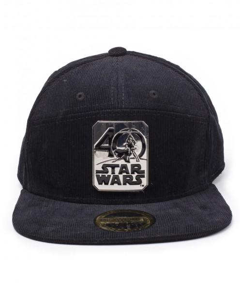 STAR WARS - 40 YEARS ANNIVERSARY METAL BADGE BLACK SNAPBACK CAP