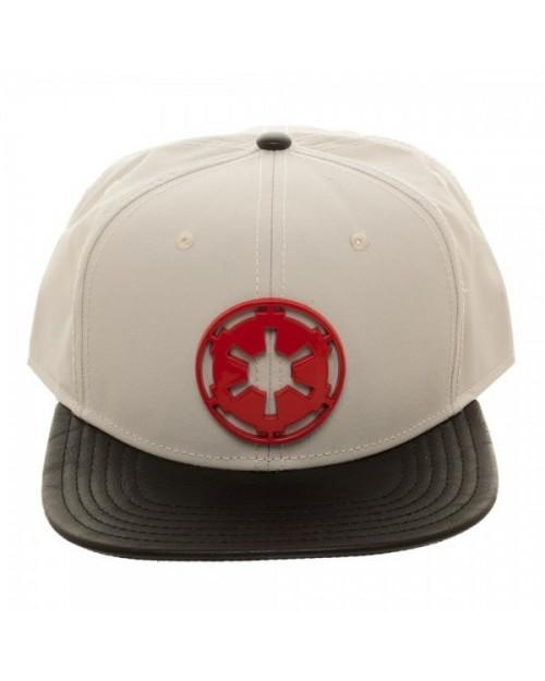 STAR WARS - GALACTIC EMPIRE RED METAL SYMBOL GREY SNAPBACK CAP
