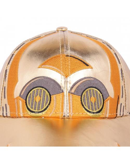 OFFICIAL STAR WARS: THE LAST JEDI - C3PO COSTUME STYLED STRAPBACK BASEBALL CAP