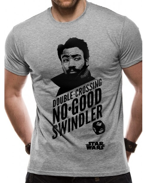 OFFICIAL SOLO: A STAR WARS STORY LANDO DOUBLE-CROSSING NO-GOOD SWINDLER T-SHIRT