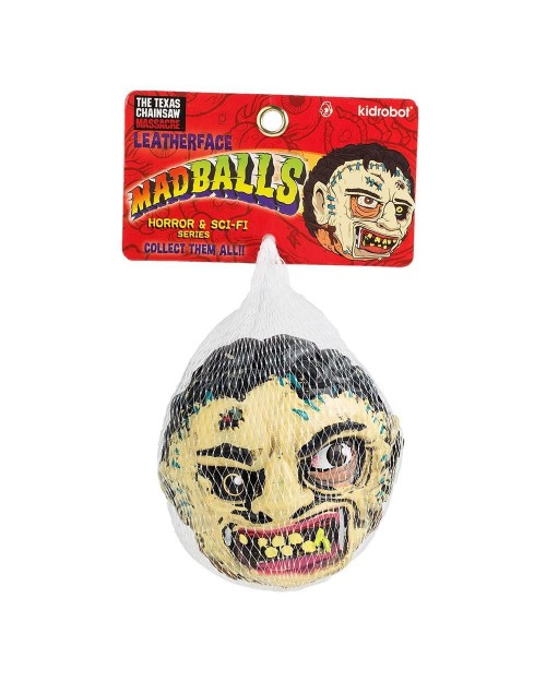 LEATHERFACE MADBALLS FOAM HORRORBALL BY KIDROBOT