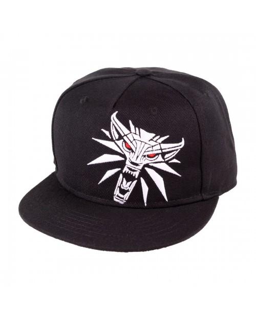 OFFICIAL WITCHER 3 - GERALT MEDALLION BLACK SNAPBACK CAP WITH PRINTED VISOR