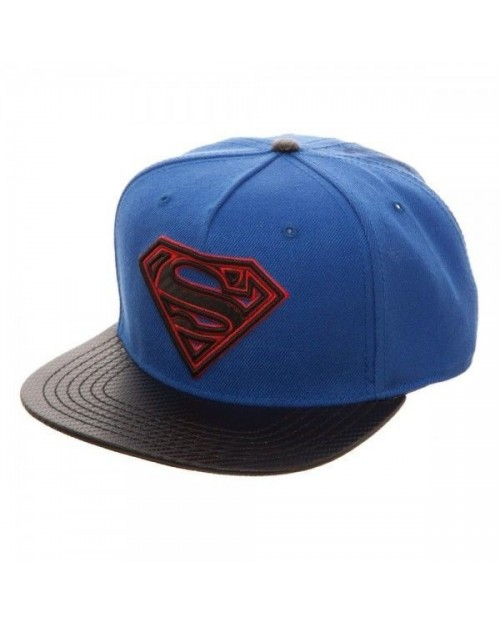 OFFICIAL DC COMICS - SUPERMAN SYMBOL CARBON STYLED SNAPBACK CAP