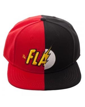 OFFICIAL DC COMICS - THE FLASH SPLIT SYMBOLS RED AND BLACK SNAPBACK CAP
