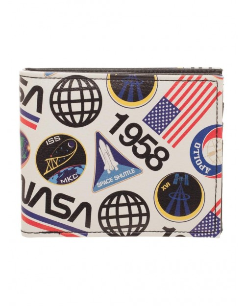 OFFICIAL NASA ALL OVER PRINT SYMBOLS AND LOGOS BI-FOLD WALLET