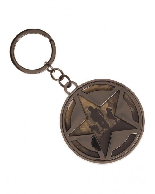 CALL OF DUTY WWII - ROUND STAR SYMBOL PRINTED METAL KEYRING