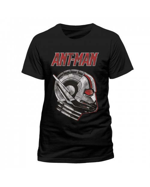 OFFICIAL MARVEL COMICS - ANT-MAN AND THE WASP - ANT-MAN SIDE VIEW MASK BLACK T-SHIRT