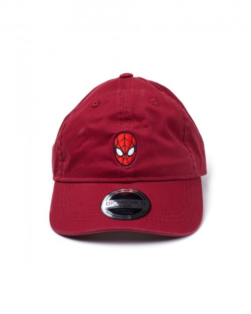 MARVEL COMICS - THE AMAZING SPIDER-MAN MASK RED STRAPBACK DAD HAT
