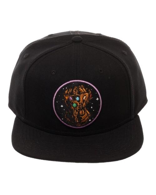 AVENGERS: INFINITY WAR - INFINITY GAUNTLET SPACE EMBROIDERY BLACK SNAPBACK CAP