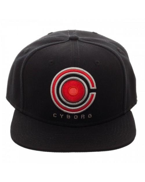DC COMICS - JUSTICE LEAGUE CYBORG SYMBOL BLACK SNAPBACK CAP