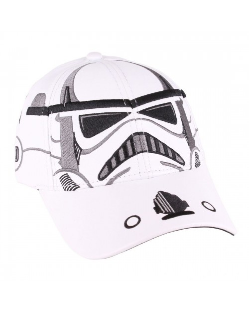 STAR WARS - STORMTROOPER MASK WHITE PU SNAPBACK CAP