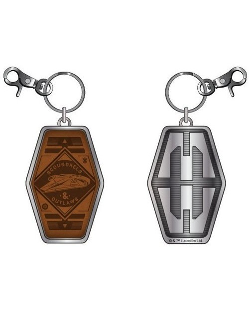 STAR WARS - MILLENIUM FALCON - SCOUNDRELS AND OUTLAWS PU/ METAL KEYRING