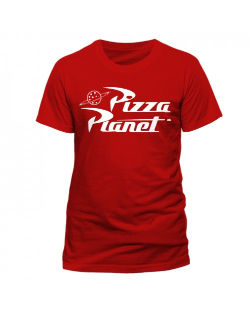DISNEY - TOY STORY PIZZA PLANET LOGO RED T-SHIRT